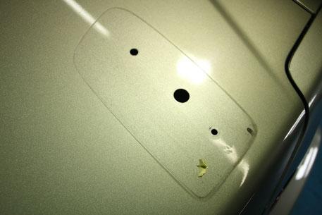 BNR34・Nur ウイング脱着時の汚れ 黒ずみ・水アカ汚れ