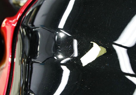 S1000黒タンクの擦り傷