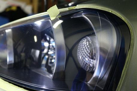 BNR34・Nur ヘッドライトの傷消し磨き 埼玉の車磨き専門店・アートディテール ヘッドライトリペア