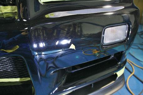 GT‐Rのガラスコーティング 傷消し 埼玉所沢 狭山 草加 練馬 スカイラインの研磨作業