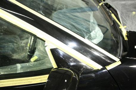BNR34Aピラーの傷 洗車傷 塗装の白濁