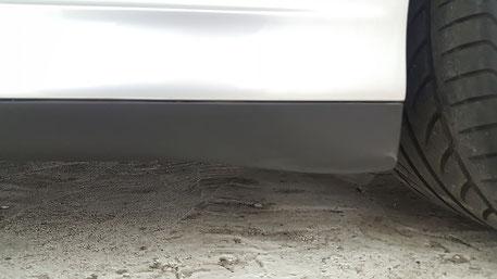 996ターボの樹脂パーツのコーティング モールパーツの白ボケ・白濁改善