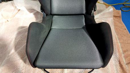 レカロシート座面の黄ばみ除去 SR‐6助手席