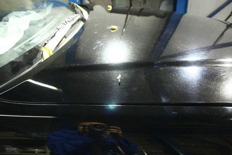 BNR34Mスペック ブラック車の傷・染み 濃色車のくすみ