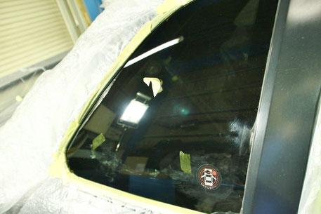 GT‐Rのガラス撥水コーティング うろこ染み除去 埼玉の車磨き専門店・アートディテール