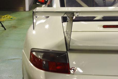 GT3カップカーのコーティング完成 リアビュー
