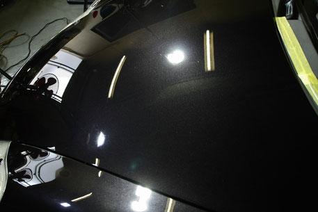 ポルシェ996の磨き・ガラスコーティング バサルトブラック 埼玉和光