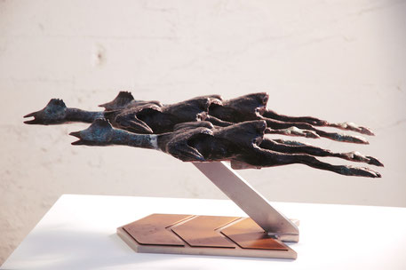grant irish sculpture - ethology - chickenhawks no. 1 (2004)