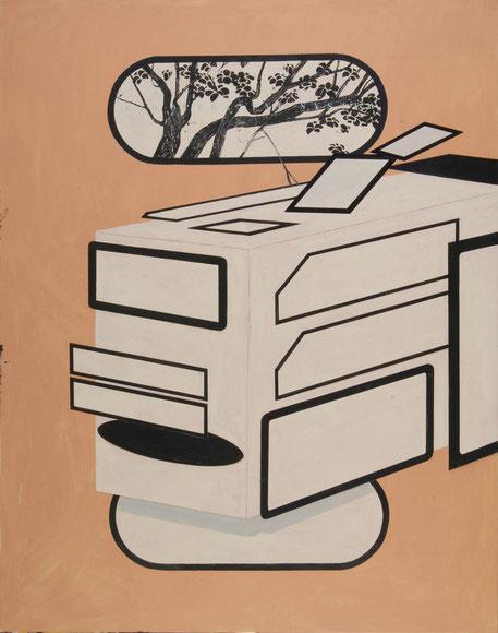 """""""Biooperating System"""",2008, Öl auf Leinen, 200x200cm"""
