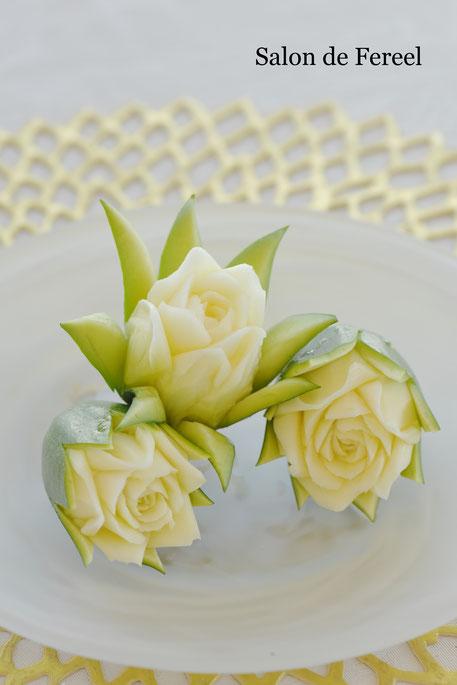 カービング スイカ 教室 フルーツ 彫刻 大阪 オーダー 野菜 ズッキーニ