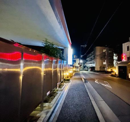 iPhone12で夜の街