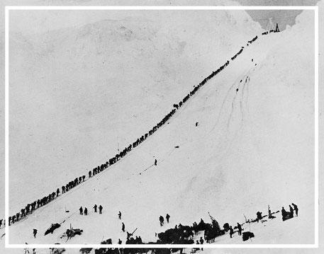 Chilkoot Pass   Golden Stairs    Klondike-Goldrausch   Jürgen Sedlmayr