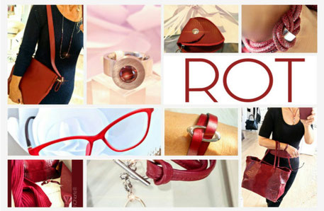 Accessoires in Rot