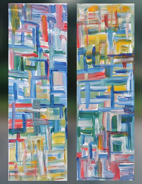Diptych! (color), 120x40 cm.