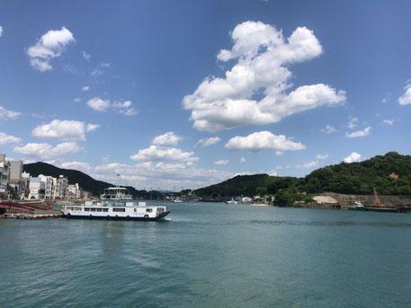 尾道アートビオトープの付近の港