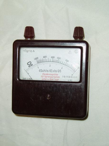 EAW Elektr. Werk Treptow DDR  Zündkreisprüfer Bergbau Typ. ZKP 1-166