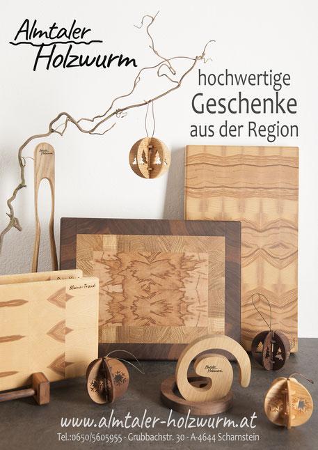 Almtaler Holzwurm, Unikate aus Holz, Kunsthandwerk, geschenkidee, geschenkideen, Weihnachtsgeschenk, Weihnachtsgeschenke aus Holz, regional, Almtal,