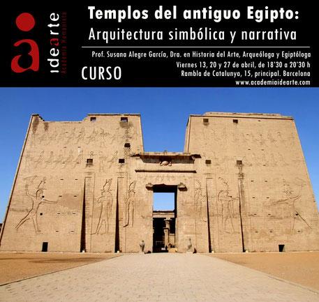 arte egipcio; arquitectura; cursos; Barcelona; historia del arte; cursos de arte; Susana Alegre;