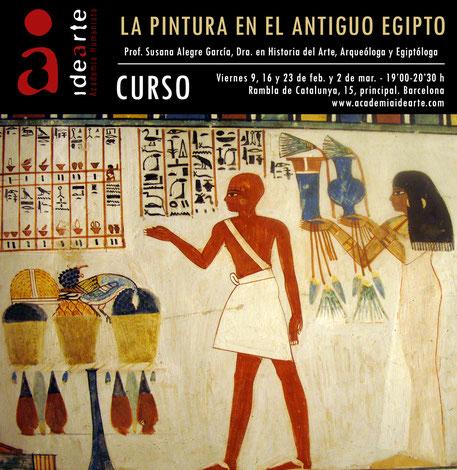 arte egipcio; pintura; cursos; Barcelona; historia del arte; cursos de arte; Susana Alegre;