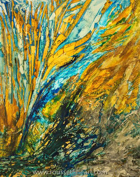 Cold Fusion II - encre acylique et huile sur toile 152 x 122 cm - Jean-Pierre Rousset 2015