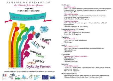 Semaine de Prévention et de lutte contre les violences faites aux femmes