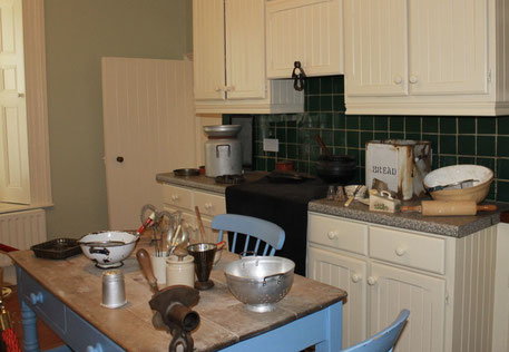 The kitchen of yesteryear - on display at Kylemore Abbey in Galway.