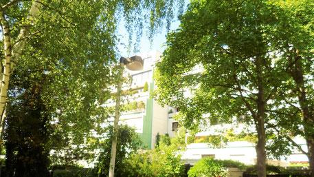Bild: Grüner Stadtteil Hannover / Mühlenberg mit Terrassenhaus