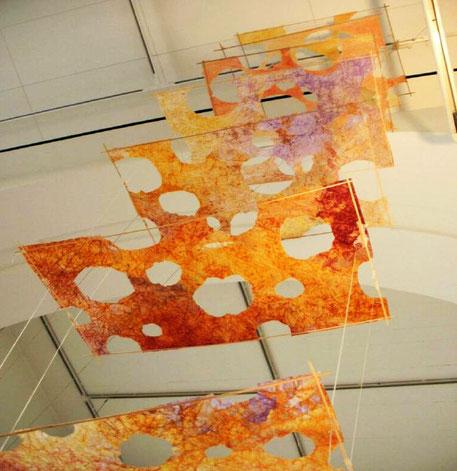 Papierplastik Himmelsleiter, Galerie im Körnerpark
