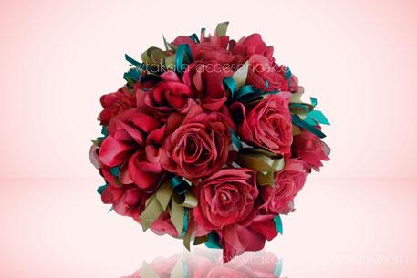 Ramo artesanal, flores de tela, rosas tela,  ramo tela, bouquet tela, flores artificiales.