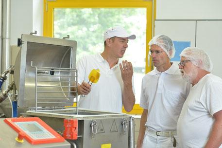 Guido Steinriede, Peter Rädler bei Schmelzkäse-Training