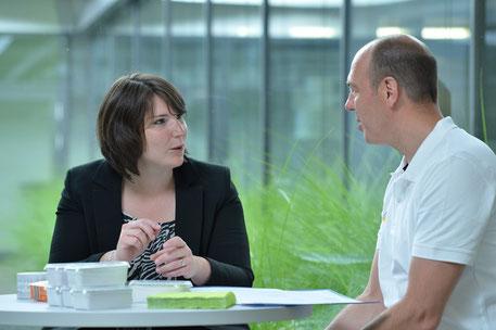 Rosi Baderu und Frank Lichtmess bei der Verkostung