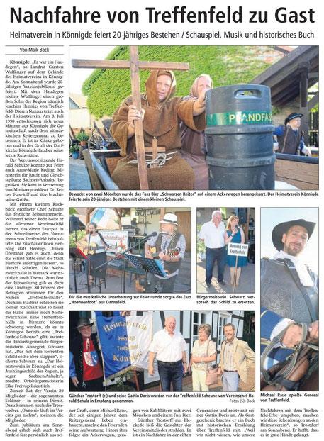 Altmark-Zeitung vom 11.07.2018, von Maik Bock