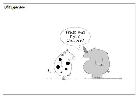 Menschenkenner-Mkt. Blitzgarden Cartoon: Personal Branding Authentizität