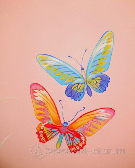 Роспись бабочек
