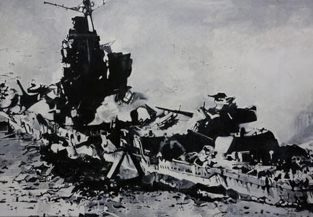 """""""Mikuma"""", Acryl/Öl auf Leinwand, 140 x 200 cm, 1993"""