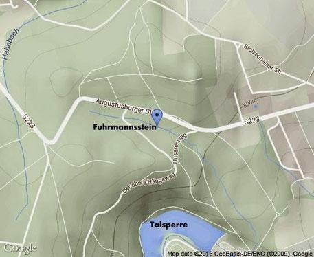 Bild: Teichler Wünschendorf Fuhrmannsstein Karte
