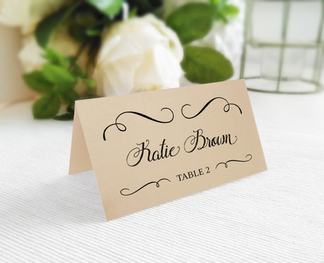Kraft Wedding Place Cards