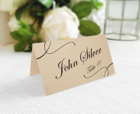 Folded Place Cards personalized
