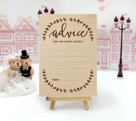 Kraft Wedding Advice Cards