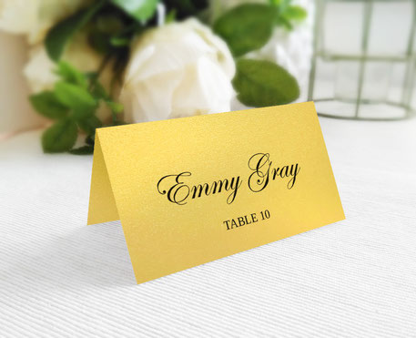 Gold Wedding Seating Cards