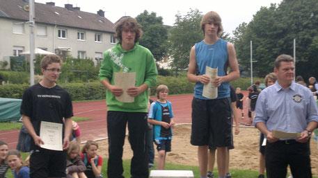 Kreismeisterschaft Wipperfürth, Philipp Eßer - Platz 2 im 100m Sprint