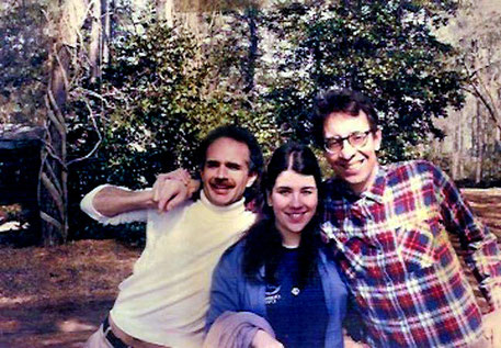 Jeff with Jane ( now Mossman ) & Bob Brown at the Meher Center
