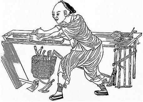 Menuisier. Alphonse FAVIER (1837-1905) : Péking. Description. — Desclée de Brouwer, Paris, Lille, 1902, pages 271-408.