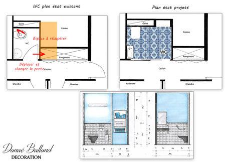 Moderne Toilettes handicapé PMR, aménagement - Danaé Balland Décoration CC-79