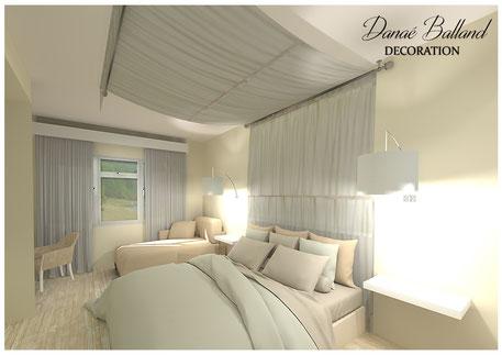 Décoration chambre d'hôtel Danaé Balland