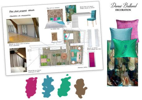 Plan appartement exotique Danaé Balland décoration