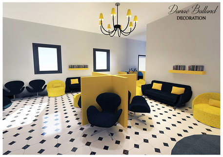 d coration originale salle d 39 attente dana balland d coration. Black Bedroom Furniture Sets. Home Design Ideas