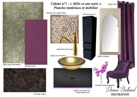 Planche cabine orient Danaé Balland décoration