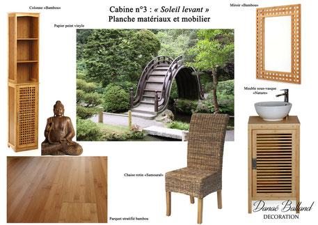 Planche cabine asiatique Danaé Balland décoration