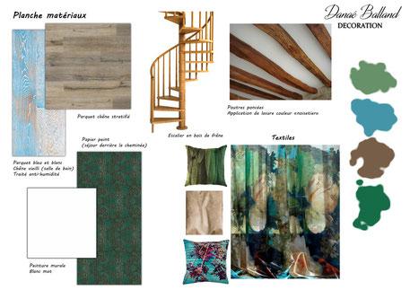 Planche matériaux Danaé Balland décoration